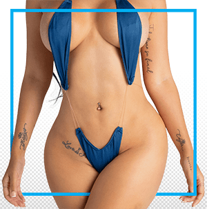 woman after liposuction and breast implants
